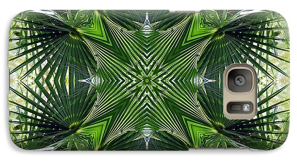 Galaxy Case featuring the photograph Palm Frond Kaleidoscope by Francesa Miller