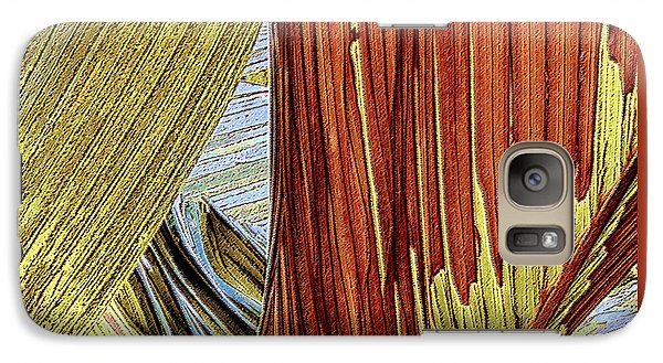 Galaxy Case featuring the photograph Palm Leaf Abstract by Ben and Raisa Gertsberg