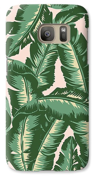 Palm Print Galaxy S7 Case by Lauren Amelia Hughes