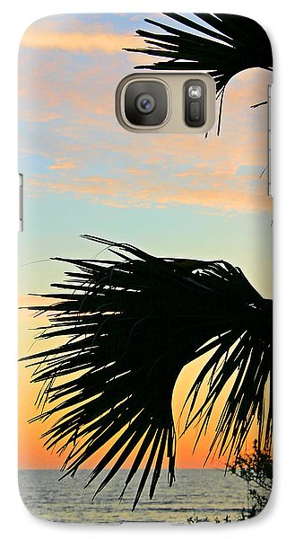 Galaxy Case featuring the photograph Palm Silhouette by Kristin Elmquist