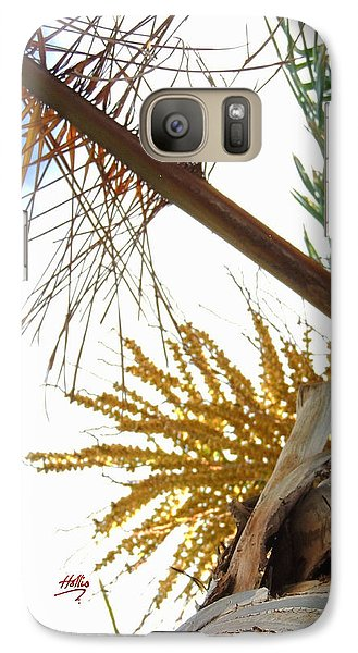 Galaxy Case featuring the photograph Palm Sky View by Linda Hollis