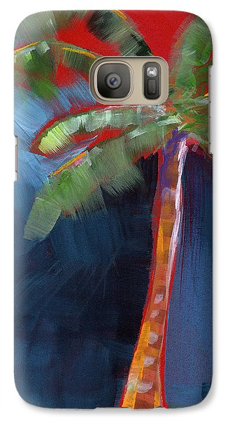 Palm Tree- Art By Linda Woods Galaxy S7 Case by Linda Woods