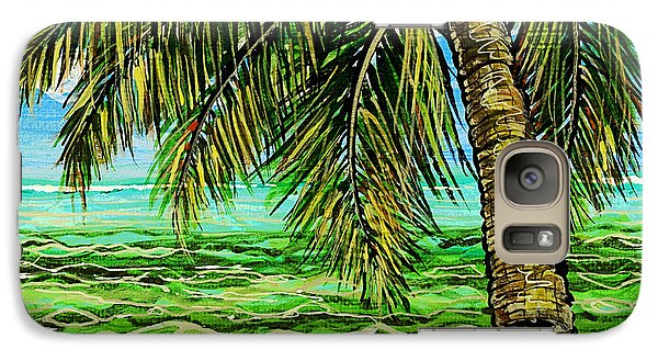 Galaxy Case featuring the painting Palm Tree by Debbie Chamberlin