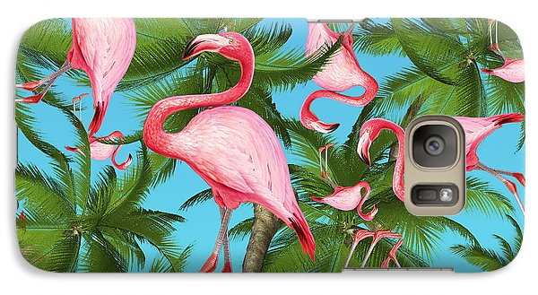 Palm Tree Galaxy Case by Mark Ashkenazi