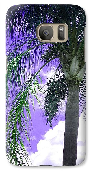 Galaxy Case featuring the photograph Palm Tree Seeding by Rosalie Scanlon