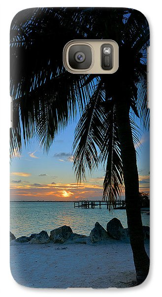 Galaxy Case featuring the photograph Palm Tree Sunset by Stephen  Vecchiotti