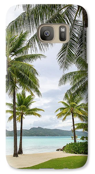 Galaxy Case featuring the photograph Palm Trees 1 by Sharon Jones