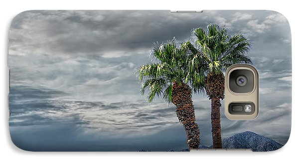 Galaxy Case featuring the photograph Palm Trees By Borrego Springs In The Anza-borrego Desert State Park by Randall Nyhof