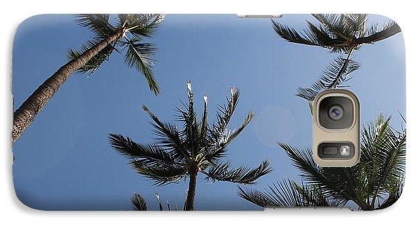 Galaxy Case featuring the photograph Palm Trees by Wilko Van de Kamp
