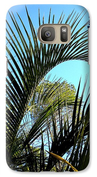 Galaxy Case featuring the painting Palmetto 2 by Renate Nadi Wesley