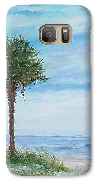 Galaxy Case featuring the painting Sold  Palmetto On The Beach by Gloria Turner