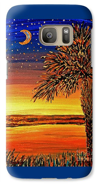 Galaxy Case featuring the painting Palmetto Sunset  by Patricia L Davidson