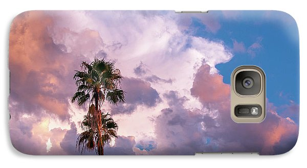 Galaxy Case featuring the photograph Palms At Sunset by Carolyn Dalessandro