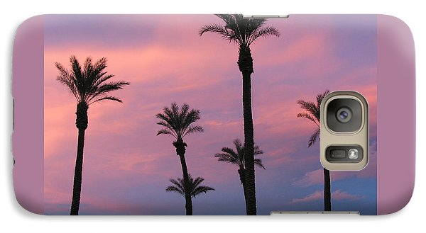 Galaxy Case featuring the photograph Palms At Sunset by Phyllis Kaltenbach