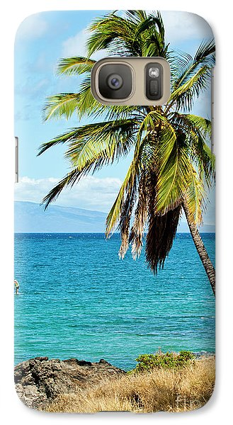 Galaxy Case featuring the photograph Palms On Hawaiian Beach 12 by Micah May