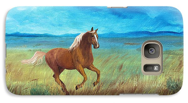 Galaxy Case featuring the painting Palomino Storm by Jan Amiss
