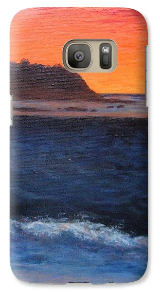Galaxy Case featuring the painting Palos Verdes Sunset by Jamie Frier