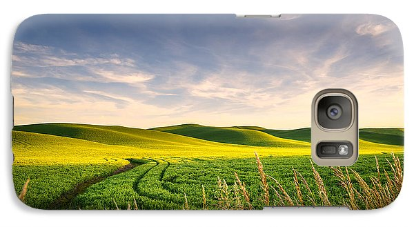 Galaxy Case featuring the photograph Palouse Bounty by Dan Mihai