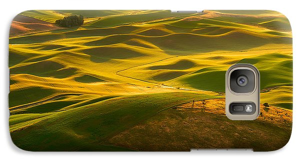 Galaxy Case featuring the photograph Palouse Swells by Dan Mihai