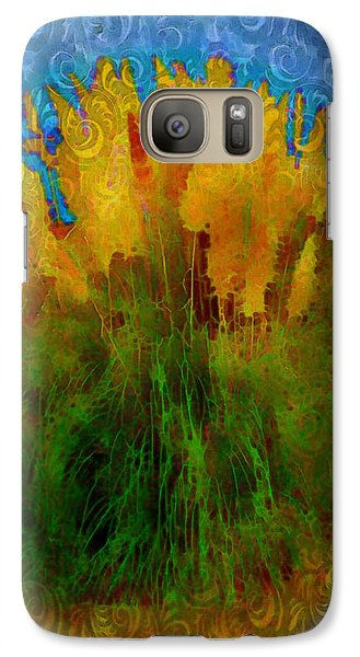 Galaxy Case featuring the photograph Pampas Grass by Iowan Stone-Flowers