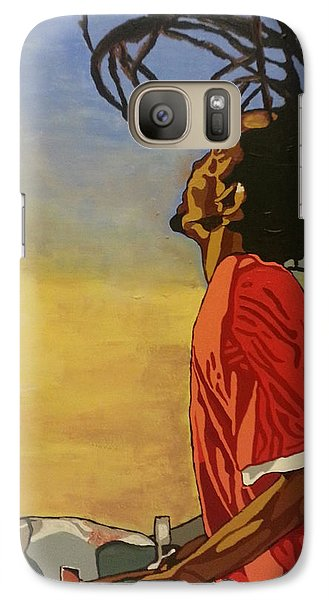 Galaxy Case featuring the painting Pan Rising by Rachel Natalie Rawlins