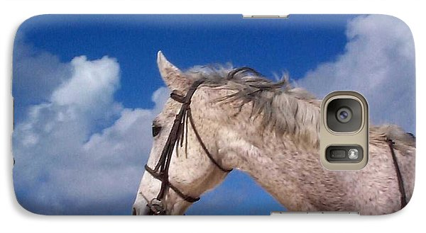 Galaxy Case featuring the photograph Pancho by Mary-Lee Sanders