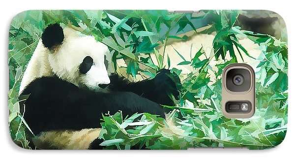 Galaxy Case featuring the painting Panda 1 by Lanjee Chee