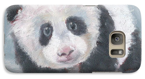 Galaxy Case featuring the painting Panda For Panda by Jessmyne Stephenson