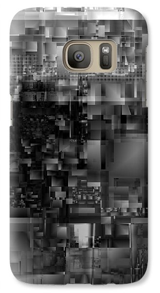 Galaxy Case featuring the digital art Panels In Grey by Richard Ortolano
