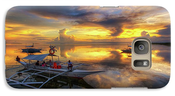 Galaxy Case featuring the photograph Panglao Port Sunset 10.0 by Yhun Suarez