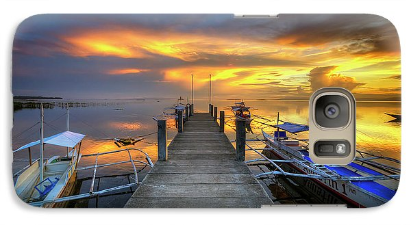 Galaxy Case featuring the photograph Panglao Port Sunset 8.0 by Yhun Suarez