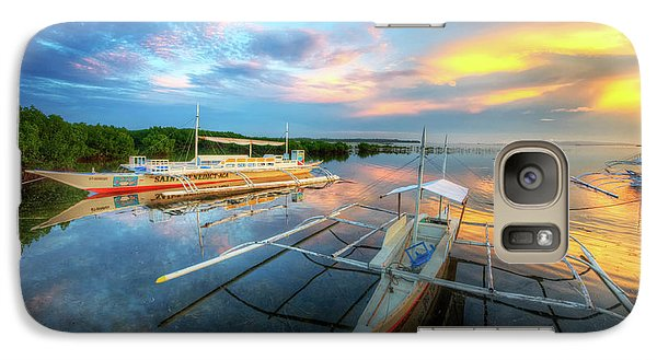 Galaxy Case featuring the photograph Panglao Port Sunset 9.0 by Yhun Suarez