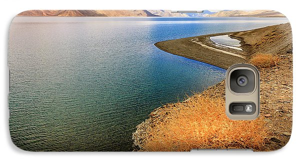 Galaxy Case featuring the photograph Pangong Tso Lake by Alexey Stiop