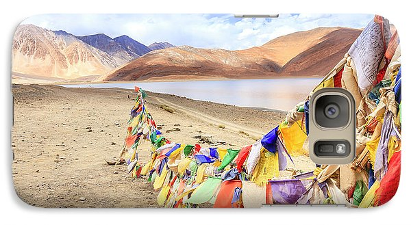 Galaxy Case featuring the photograph Pangong Tso Lkae by Alexey Stiop