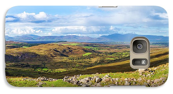 Galaxy Case featuring the photograph Panorama Of A Colourful Undulating Irish Landscape In Kerry by Semmick Photo