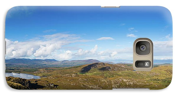 Galaxy Case featuring the photograph Panorama Of Ballycullane And Lough Acoose In Ireland by Semmick Photo