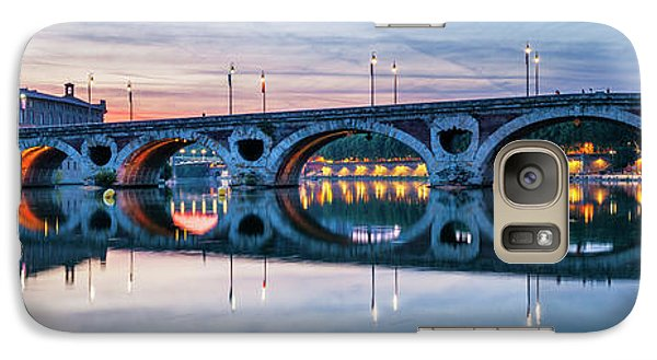 Galaxy Case featuring the photograph Panorama Of Pont Neuf In Toulouse by Elena Elisseeva