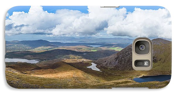 Galaxy Case featuring the photograph Panorama Of Valleys And Mountains In County Kerry On A Summer Da by Semmick Photo