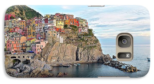 Galaxy Case featuring the photograph Panoramic Manarola Seascape by Frozen in Time Fine Art Photography