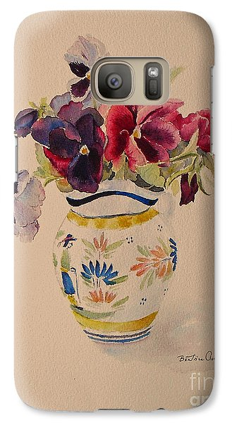 Pansies In A Quimper Pot Galaxy S7 Case by Beatrice Cloake