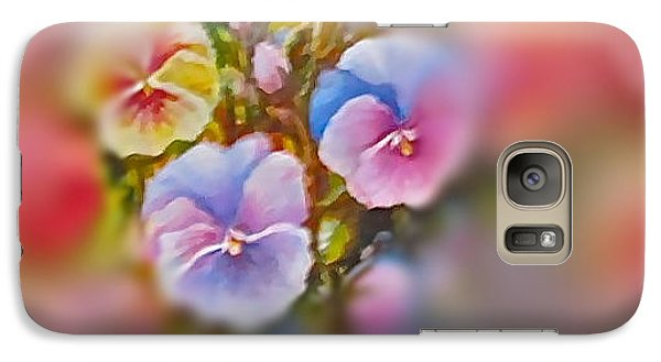 Galaxy Case featuring the painting Pansies by Patricia Schneider Mitchell