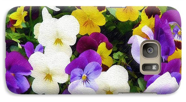 Galaxy Case featuring the photograph Pansies by Sandy MacGowan
