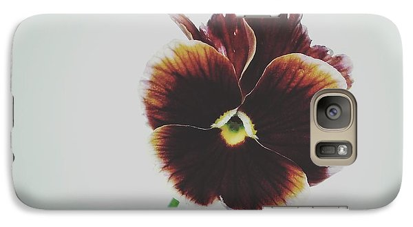 Galaxy Case featuring the photograph Pansy Face by Karen Stahlros