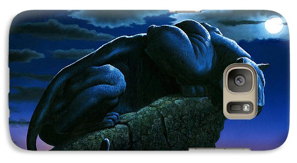 Panther On Rock Galaxy Case by MGL Studio - Chris Hiett