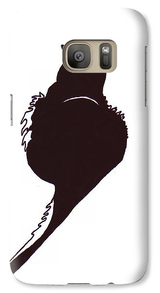 Galaxy Case featuring the drawing Panther  by Rachel Lowry