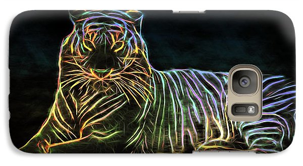 Galaxy Case featuring the digital art Panthera Tigris by Aaron Berg