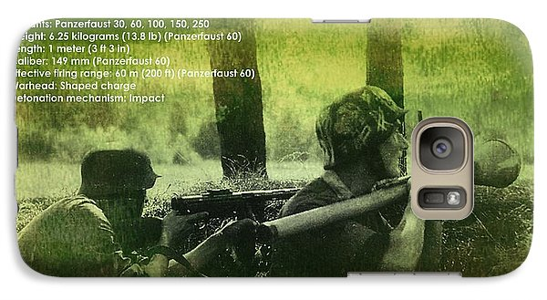 Galaxy Case featuring the digital art Panzerfaust In Action by John Wills