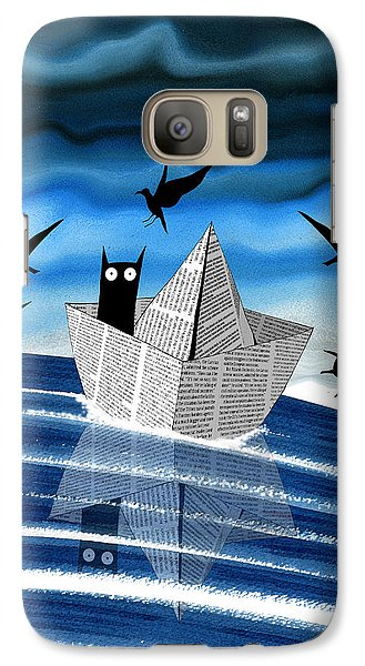 Seagull Galaxy S7 Case - Paper Boat  by Andrew Hitchen