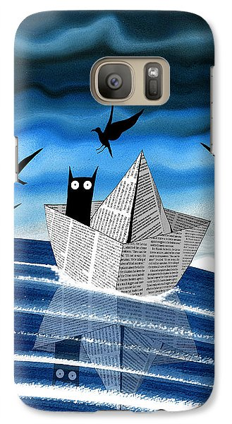 Fairy Galaxy S7 Case - Paper Boat  by Andrew Hitchen