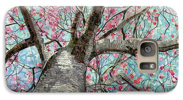 Galaxy Case featuring the mixed media Paper Magnolias by Shawna Rowe